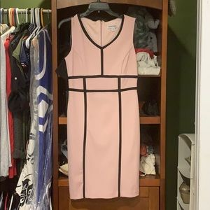 Light pink with black lines summer dress